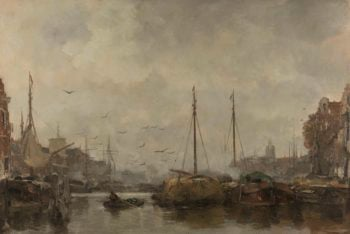 Cityscape. ca. 1885 - ca. 1887 | Jacob Maris | oil painting