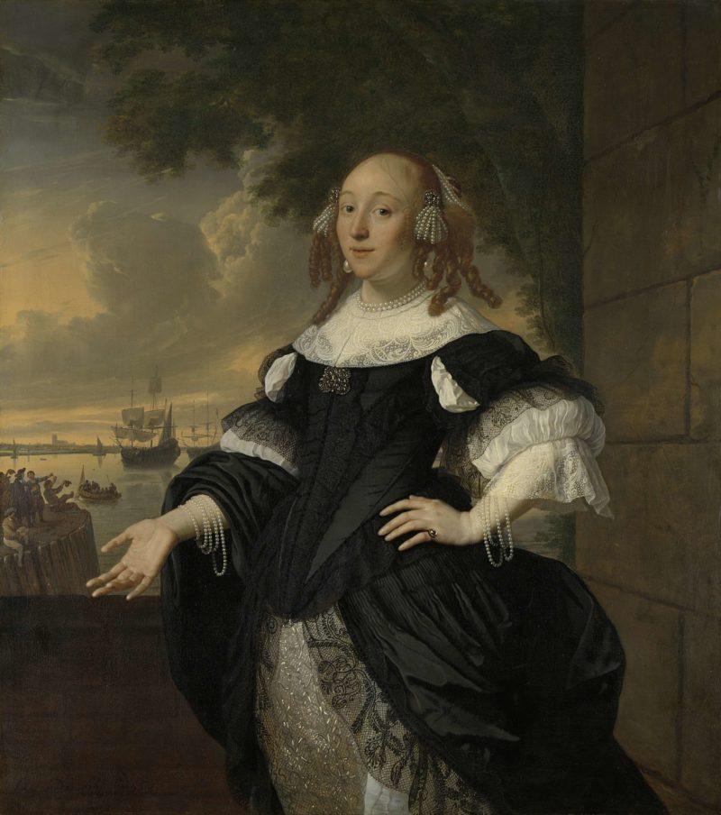Geertruida the Dubbelde (1647-84). Wife of Aert van Nes. 1668 | Bartholomeus van der Helst | oil painting