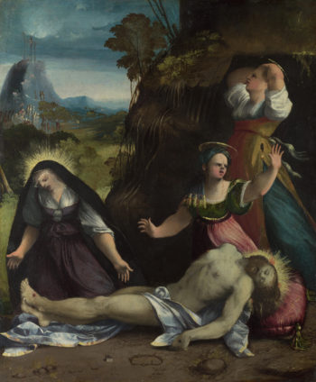 Lamentation over the Body of Christ | Dosso Dossi | oil painting