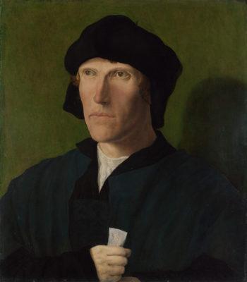 A Man aged 38 | Lucas van Leyden | oil painting