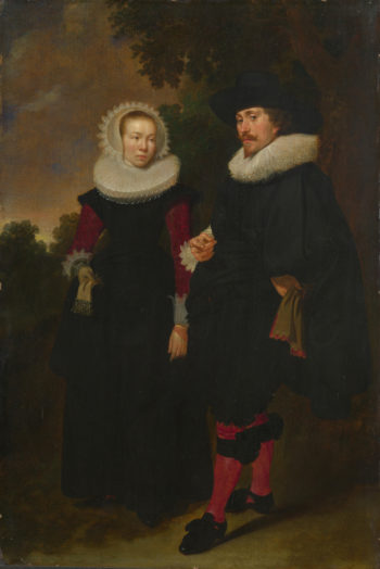 Portrait of a Man and a Woman   Dutch   oil painting