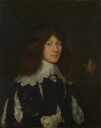 Portrait of a Young Man in Black   Dutch   oil painting
