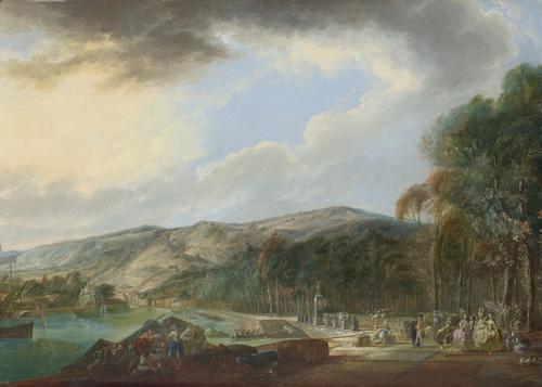 View of El Arenal de Bilbao | Luis Paret | oil painting