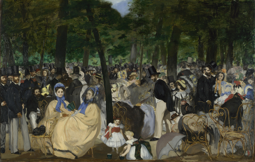 Music in the Tuileries Gardens   Edouard Manet   oil painting