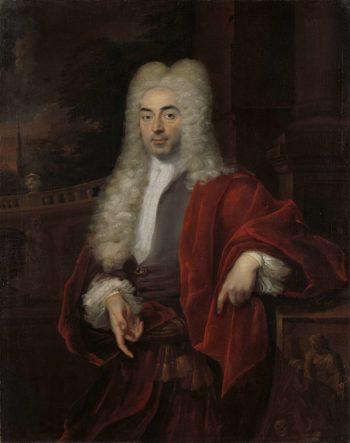 Portrait of a man. 1723   Cornelis Troost   oil painting