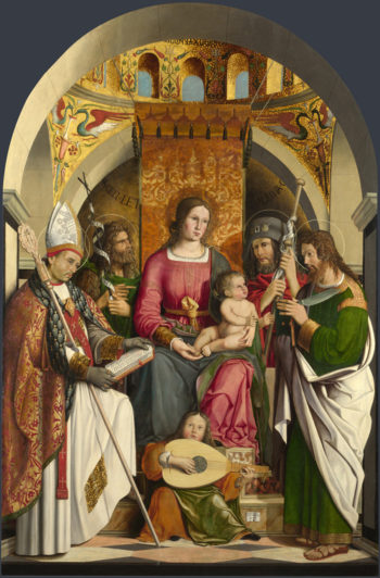 The Virgin and Child with Saints | Marco Marziale | oil painting