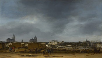 A View of Delft after the Explosion of 1654 | Egbert van der Poel | oil painting