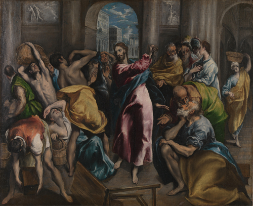 Christ driving the Traders from the Temple | El Greco | oil painting