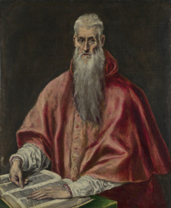 Saint Jerome as Cardinal | El Greco | oil painting