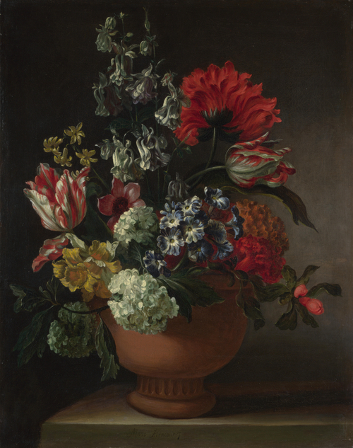 A Bowl of Flowers | Marie Blancour | oil painting