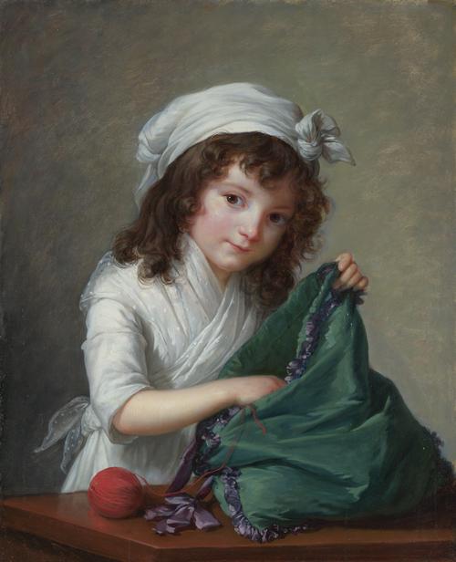 Mademoiselle Brongniart | Elizabeth Louise Vigee Le Brun | oil painting