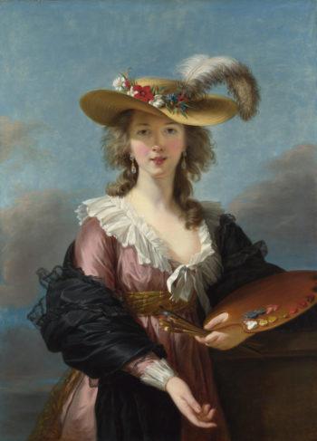 Self Portrait in a Straw Hat   Elizabeth Louise Vigee Le Brun   oil painting