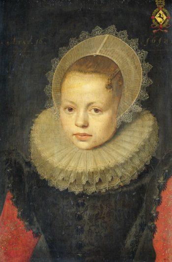 Portrait of Corvina Hezenbroek of Hofdijck (1602-67). 1618 | Michiel Jansz. van Mierevelt | oil painting