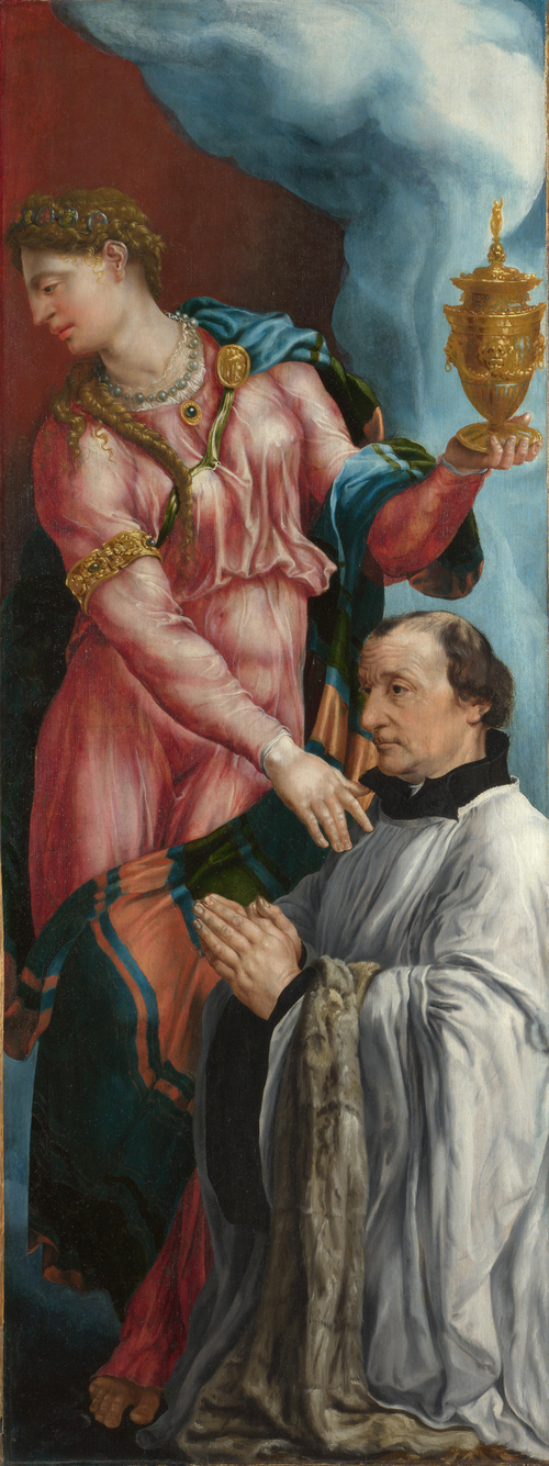 The Donor and Saint Mary Magdalene | Martin van Heemskerck | oil painting