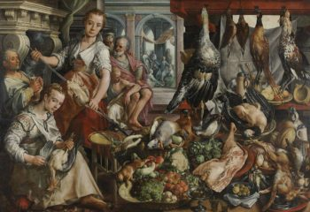 The Well-stocked Kitchen. 1566 | Joachim Beuckelaer | oil painting
