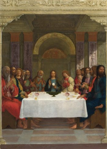 The Institution of the Eucharist | Ercole de' Roberti | oil painting