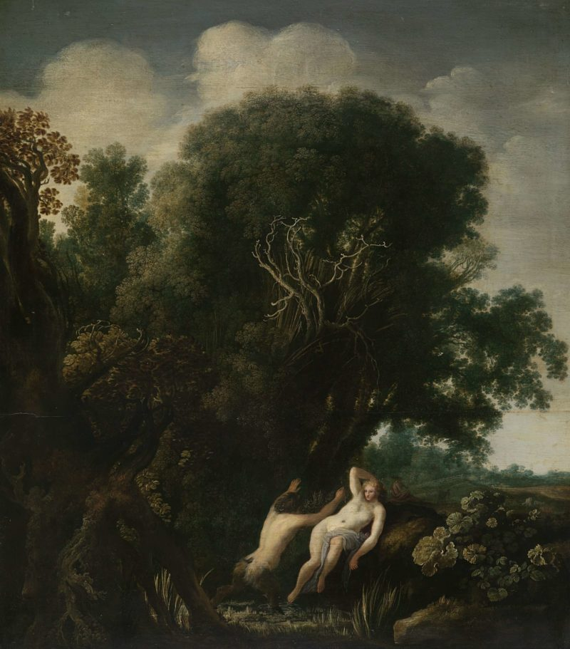 A Bathing Nymph Taken by Surprise by a Satyr. ca. 1630 - 1635 | Moyses van Wtenbrouck | oil painting