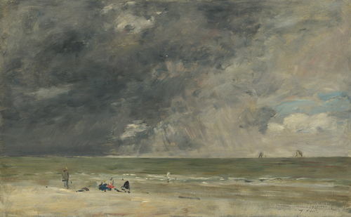 Beach at Trouville | Eugene Boudin | oil painting