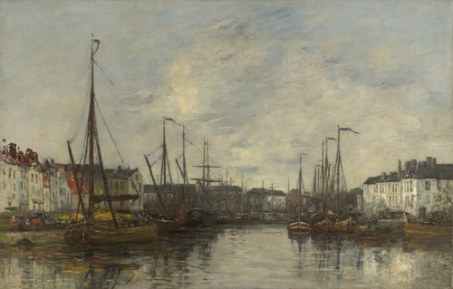 Brussels Harbour | Eugene Boudin | oil painting