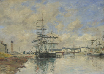 Deauville Harbour | Eugene Boudin | oil painting