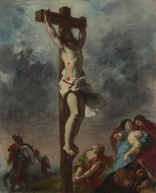 Christ on the Cross | Eugene Delacroix | oil painting