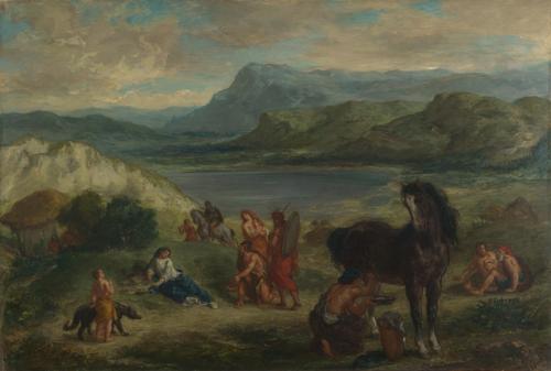 Ovid among the Scythians   Eugene Delacroix   oil painting
