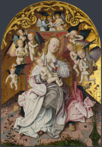 The Virgin and Child with Musical Angels | Master of the Saint Bartholomew Altarpiece | oil painting