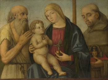 The Virgin and Child with Saints | Filippo Mazzola | oil painting