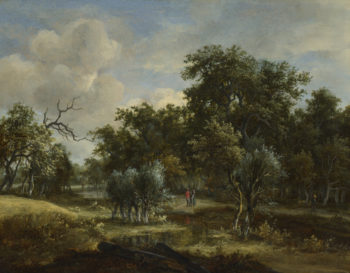 A Stream by a Wood | Meindert Hobbema | oil painting