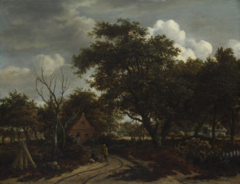 Cottages in a Wood | Meindert Hobbema | oil painting