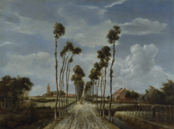 The Avenue at Middelharnis | Meindert Hobbema | oil painting