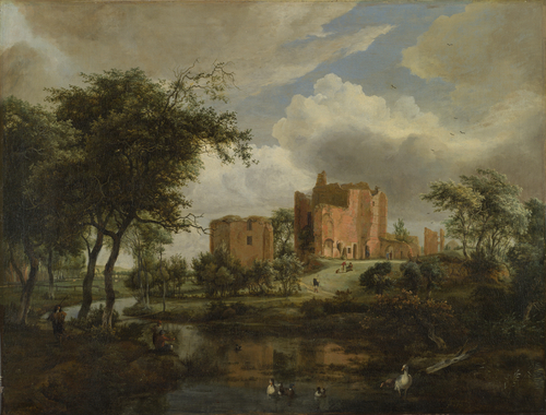 The Ruins of Brederode Castle | Meindert Hobbema | oil painting