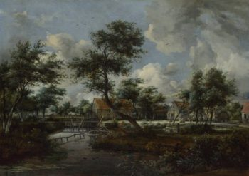 The Watermills at Singraven near Denekamp | Meindert Hobbema | oil painting