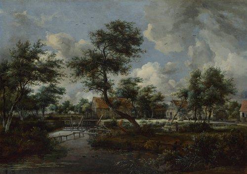The Watermills at Singraven near Denekamp | Meindert Hobbema | oil painting