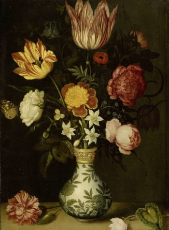 Still Life with Flowers in a Wan-Li vase. 1619 | Ambrosius Bosschaert | oil painting