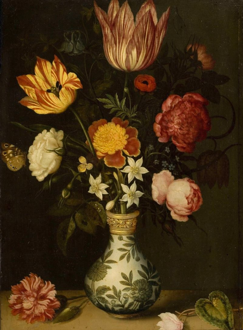 Still Life with Flowers in a Wan-Li vase. 1619   Ambrosius Bosschaert   oil painting