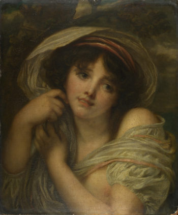 A Girl | Follower of Jean-Baptiste Greuze | oil painting