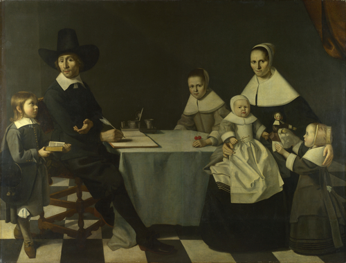 A Family Group   Michiel Nouts   oil painting