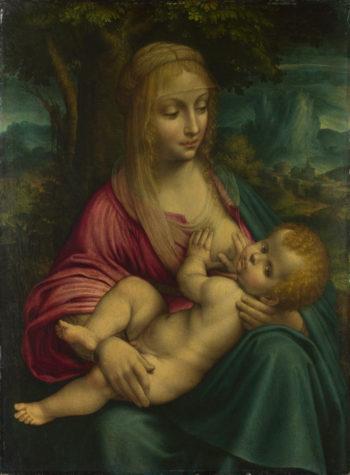 The Virgin and Child | Follower of Leonardo da Vinci | oil painting
