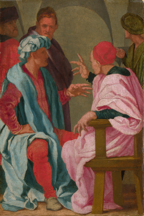 A Discussion | Mirabello Cavalori | oil painting