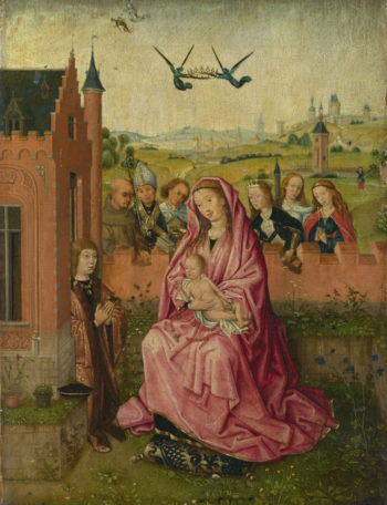 The Virgin and Child with Saints and Donor | Follower of Lieven van Lathem | oil painting