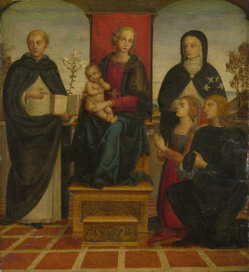 The Virgin and Child with Saints | Follower of Pietro Perugino | oil painting