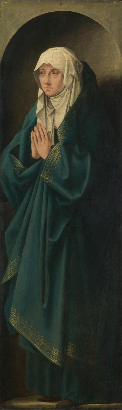 A Female Figure standing in a Niche | Follower of Quinten Massys | oil painting