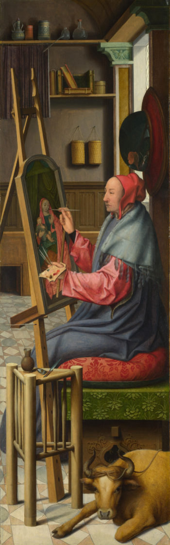 Saint Luke painting the Virgin and Child | Follower of Quinten Massys | oil painting