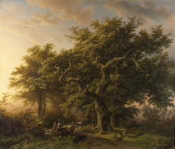 Forest Scene. 1848 | Barend Cornelis Koekkoek | oil painting