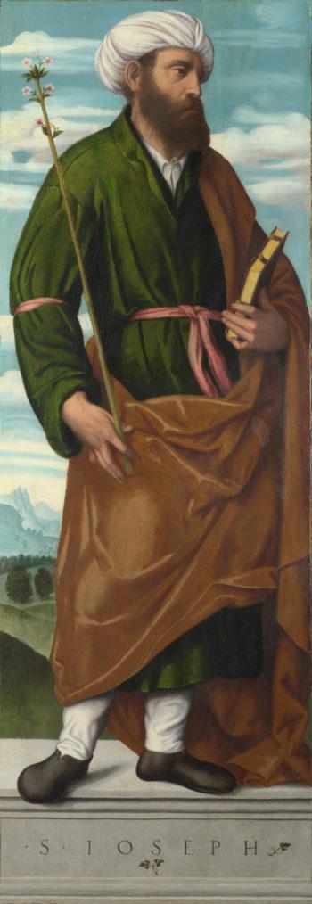 Saint Joseph   Moretto da Brescia   oil painting