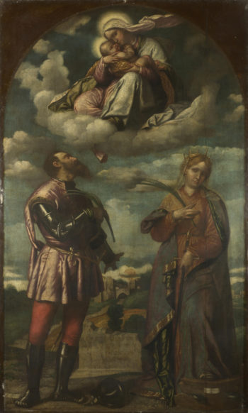 The Madonna and Child with Saints (1)   Moretto da Brescia   oil painting