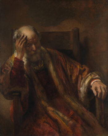 An Old Man in an Armchair | Follower of Rembrandt | oil painting