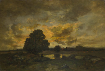 Common with Stormy Sunset | Narcisse-Virgilio Diaz de la Peta | oil painting