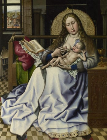 The Virgin and Child before a Firescreen | Follower of Robert Campin | oil painting